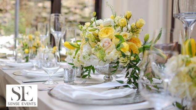 Ericas & Giggs Wedding at Ancaster Mill-Centrepieces 4-Sense Weddings & Events