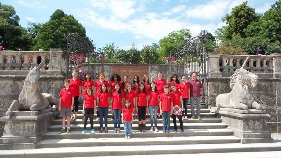 MUSYCA+Childrens+Choir+touring+Mirabell+Gardens,+Vienna+2014