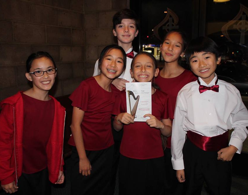 MUSYCA singers, December 1