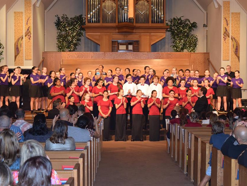 Auckland Girls' Choir and MUSYCA in LA