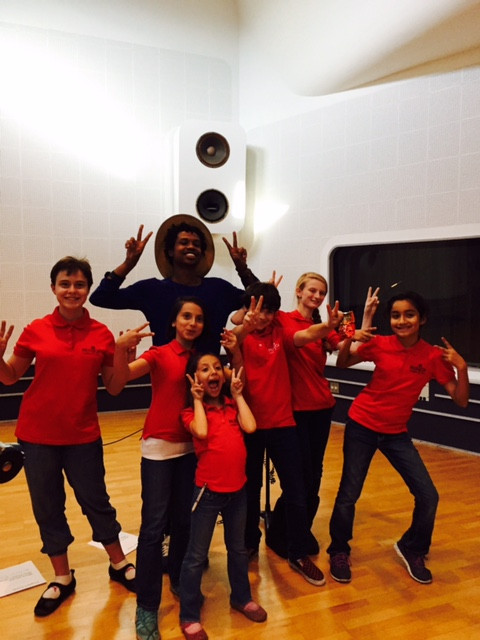 MUSYCA Children's Choir with artist Raury at Larrabee recording studio