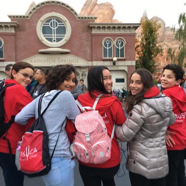 MUSYCA students at Disneyland2