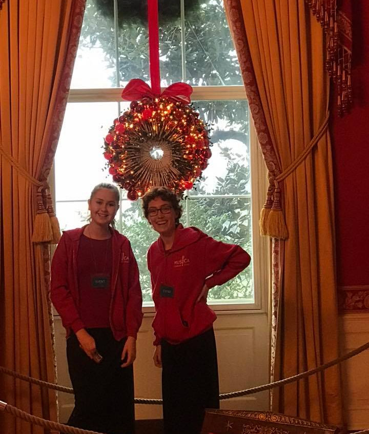 MUSYCA students at the White House