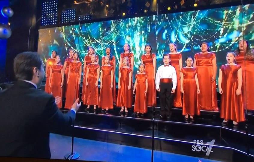 MUSYCA Children's Choir sing on TV