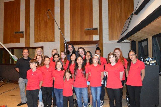 The choir at Ocean Way Recording
