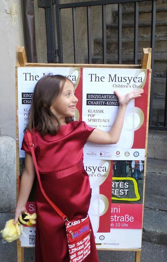 MUSYCA+Childrens+Choir+singer+before+Salzburg+performance