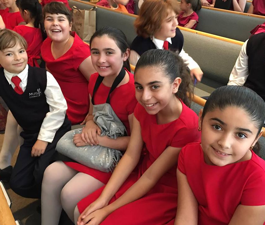 MUSYCA singers at the Spring 2017 Concert Blue Skies 2