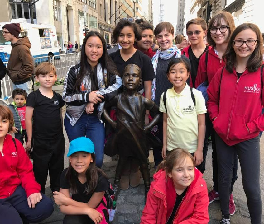 MUSYCA with Fearless Girl