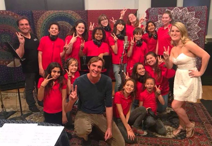 The Children's Choir with Band Mallotte at Clearlake Recording Studio