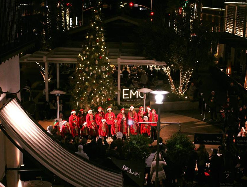 MUSYCA Children's Choir tree lighting the Village