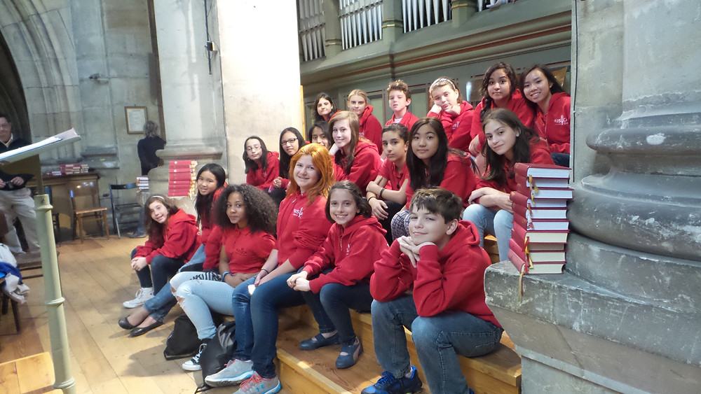 MUSYCA's young singers at St Vitus Cathedral in Prague