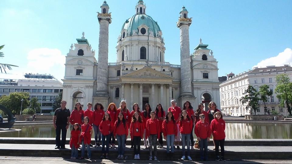 MUSYCA Children's Choir at Karlskirche in Vienna.