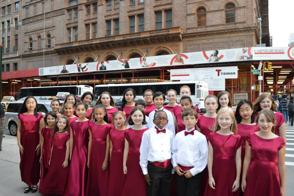 The Children's Chorus at Carnegie Hall during the New York Tour.