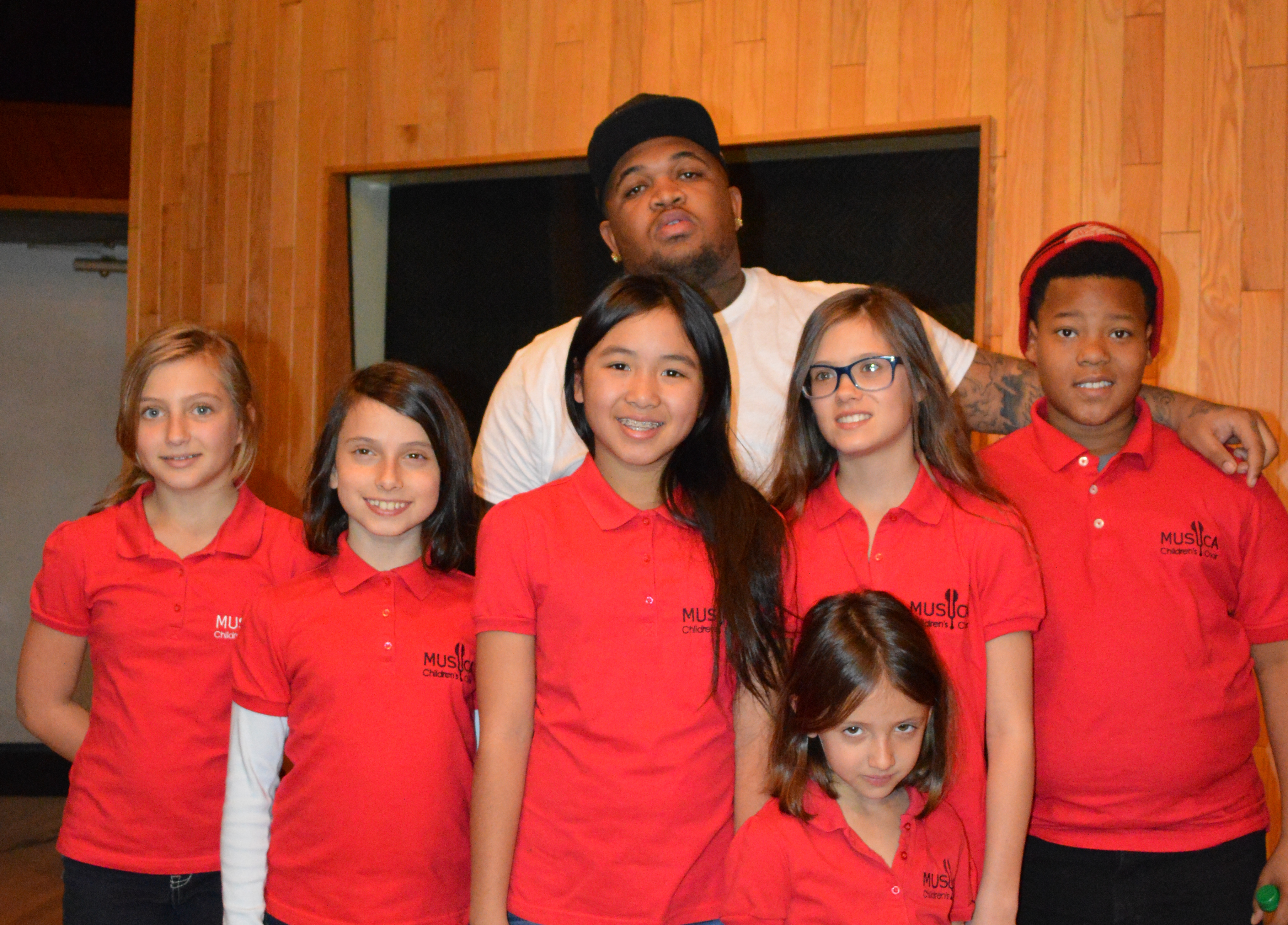 MUSYCA kids record with DJ Mustard