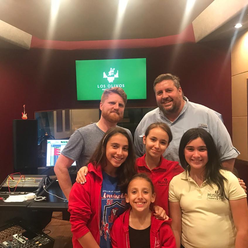 MUSYCA choir Science Arise studio recording