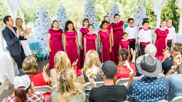 MUSYCA Choir Kids perform at on Hallmark Channel's Home and Family Show, Christmas in July