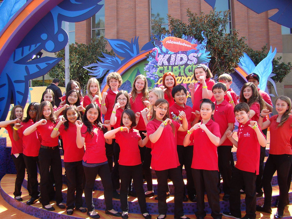 The Children's Choir at the Nickelodeon Kids Choice Awards, Los Angeles.