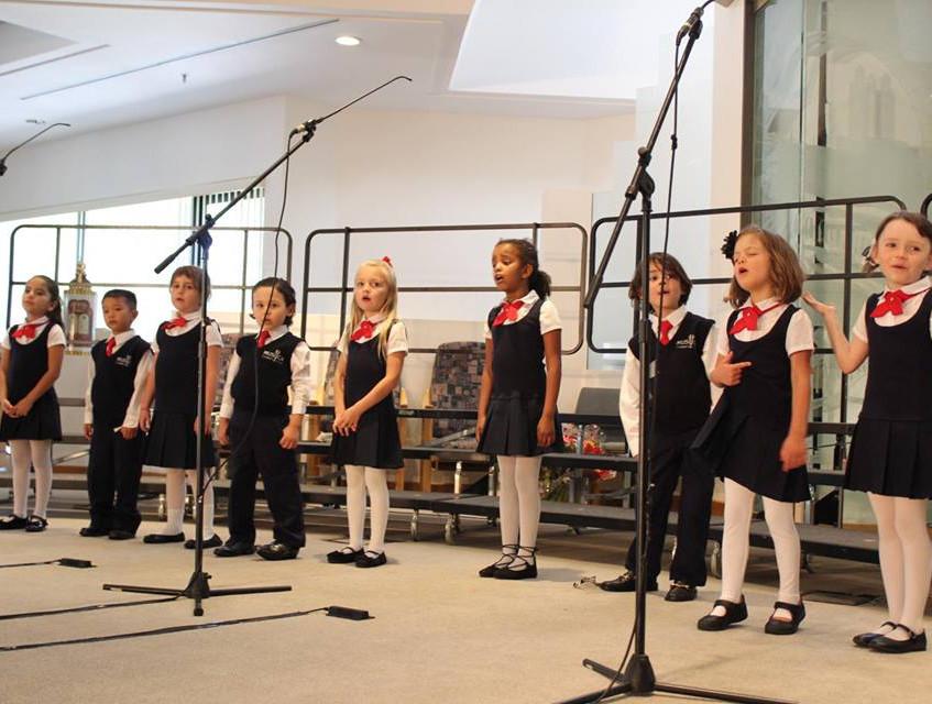 Kinderchoir sings at MUSYCA Spring Concert 2017