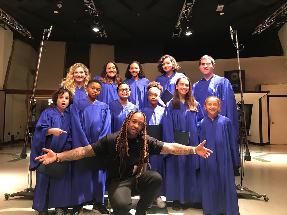 MUSYCA Choir singers and artist Ty Dolla Sign