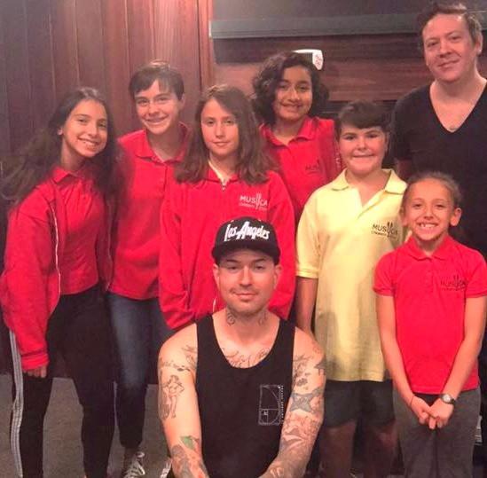 MUSYCA Children's Choir with Hollywood Undead Jorel Decker and producer Sean Gould