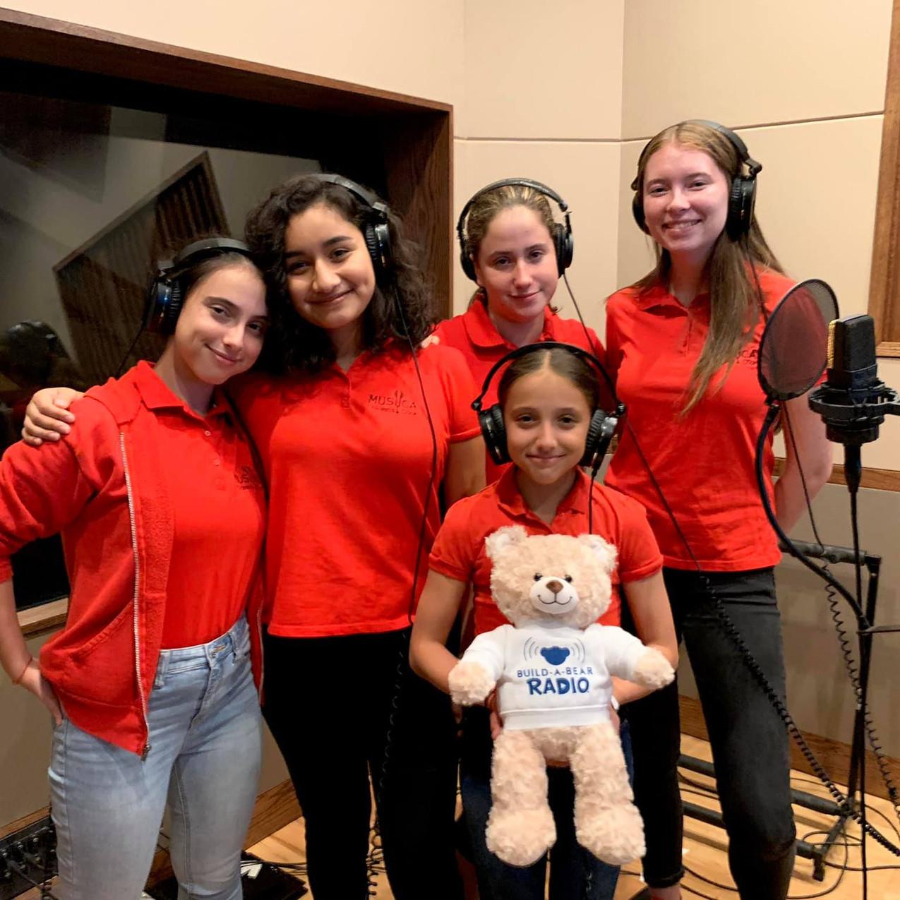 MUSYCA Children's Choir records an album