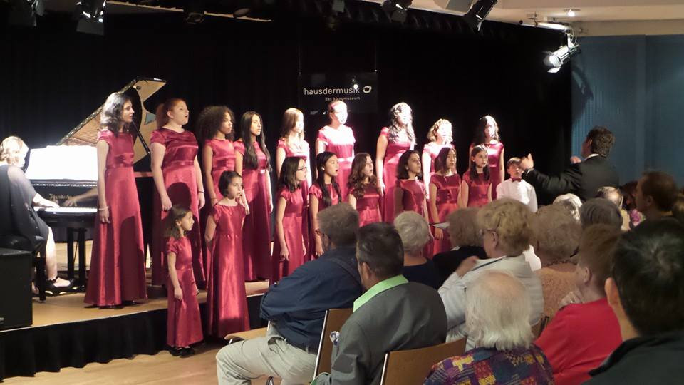 The Children's Choir performs at the Haus der Musik in Vienna, Austria.