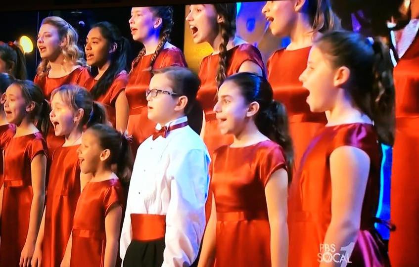 MUSYCA Children's Choir sings on TV