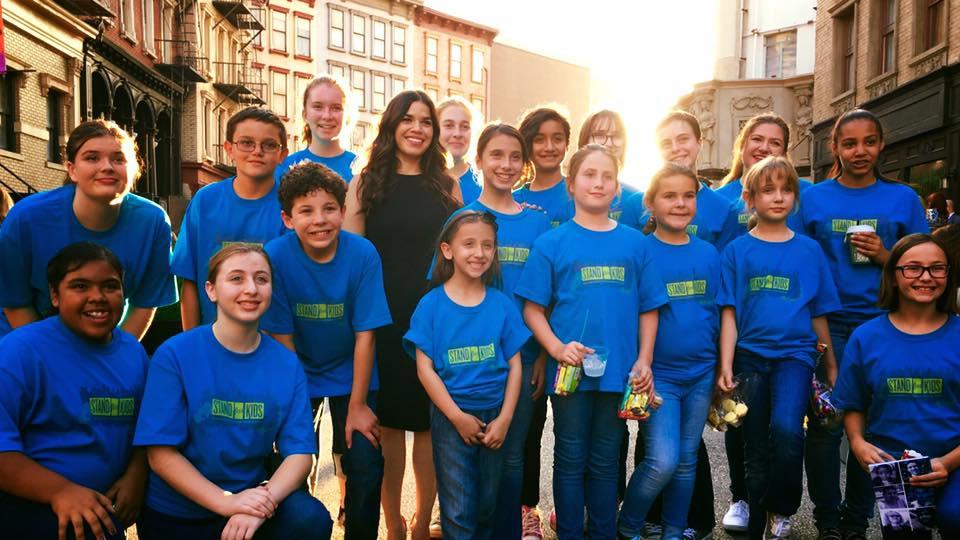 MUSYCA singers with actress America Ferrera at Paramount Studios