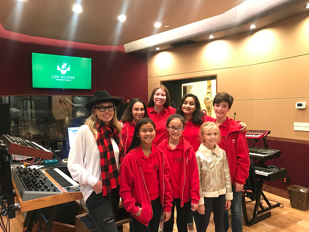 MUSYCA Children's Choir recording with Brooke Josephson
