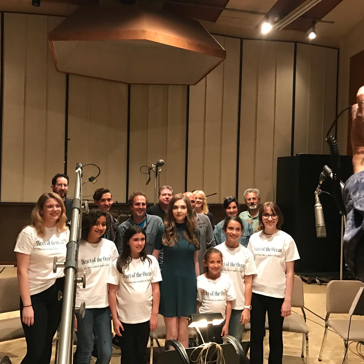 Children's Choir in recording studio