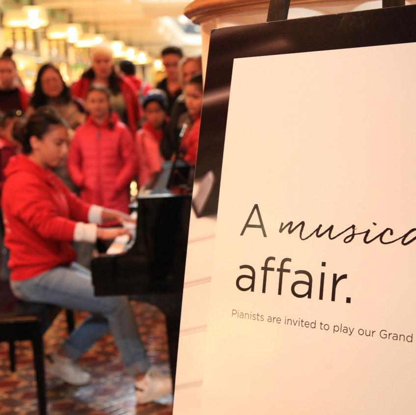 Natalie Plays piano in Australia