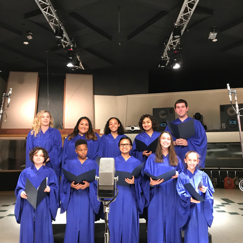 MUSYCA Children's choir sings at EastWest studios