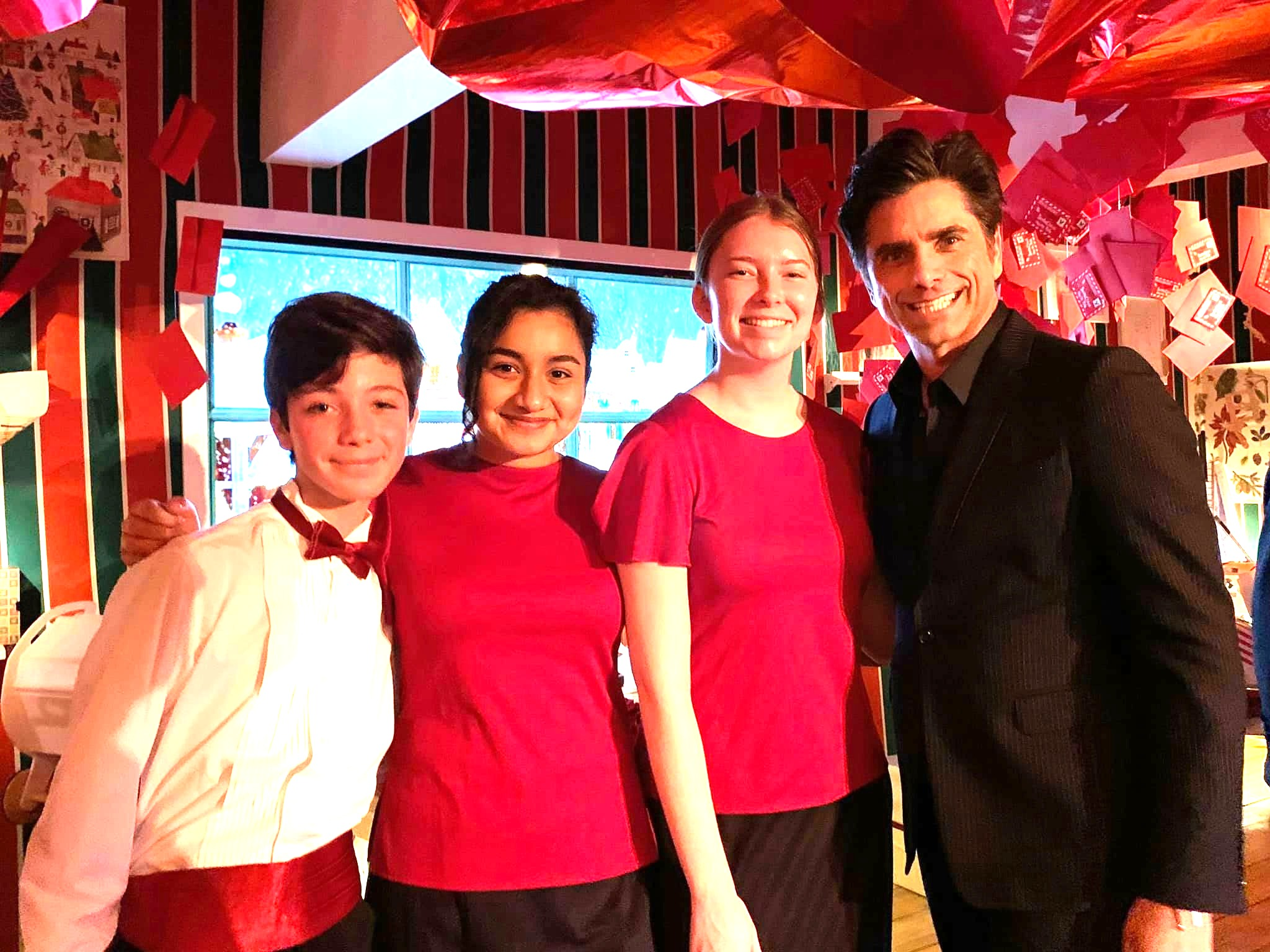 MUSYCA singers with actor John Stamos