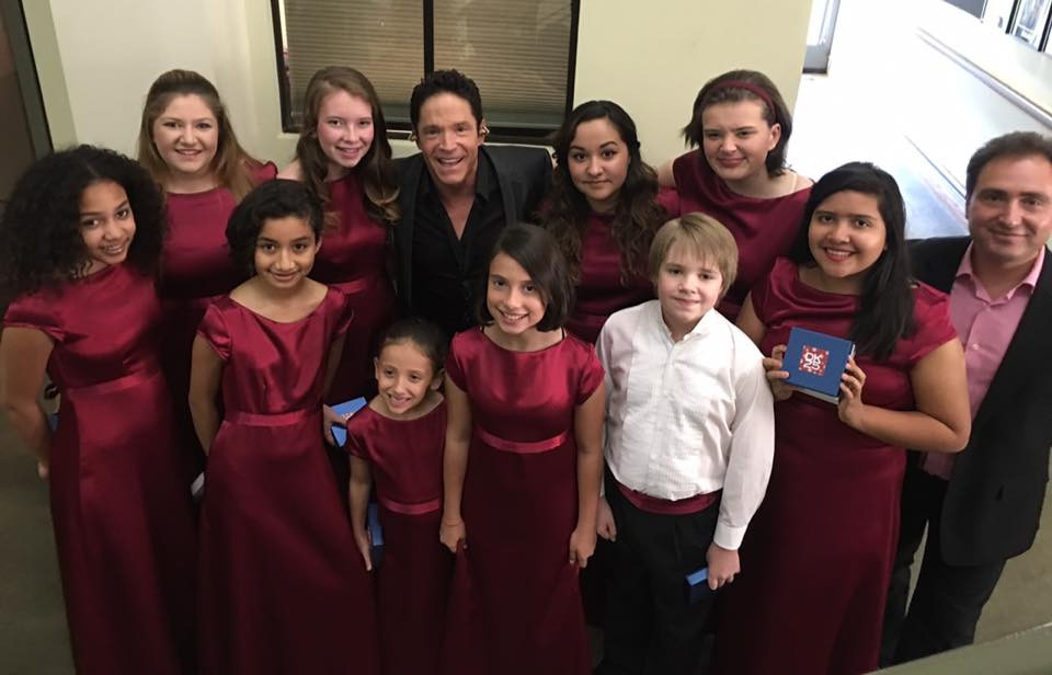 MUSYCA Children's Choir with Dave Koz and Mikhail Shtangrud at the Cerritos Performing Arts Center