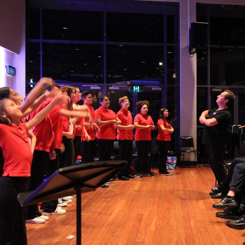 Choir sings in Sydney Conservatorium