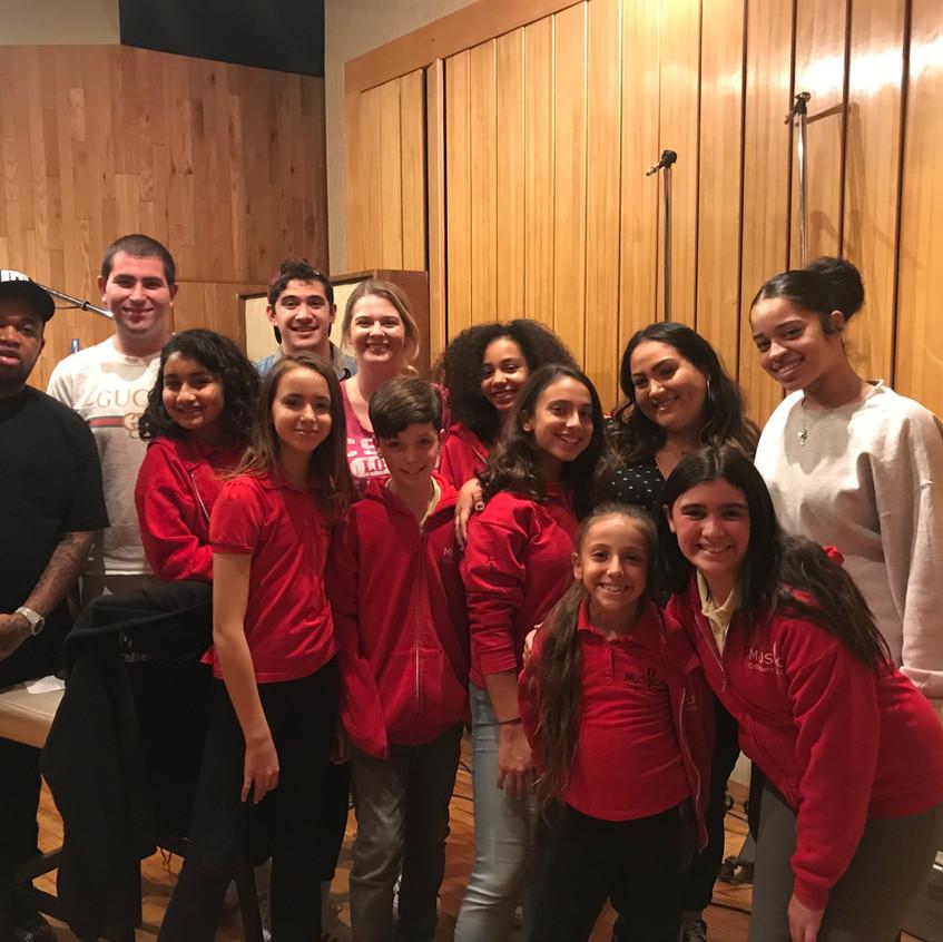 MUSYCA singers with DJ Mustard and Ella