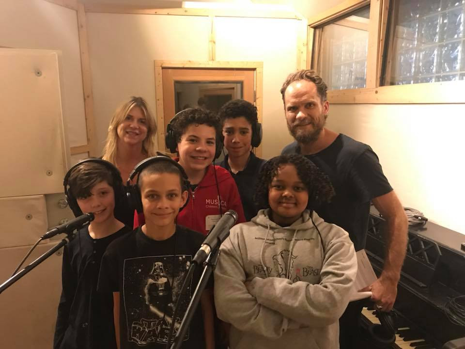 MUSYCA Boys' Choir with composer Danny Bensi and Music Supervisor Monica Zierhut