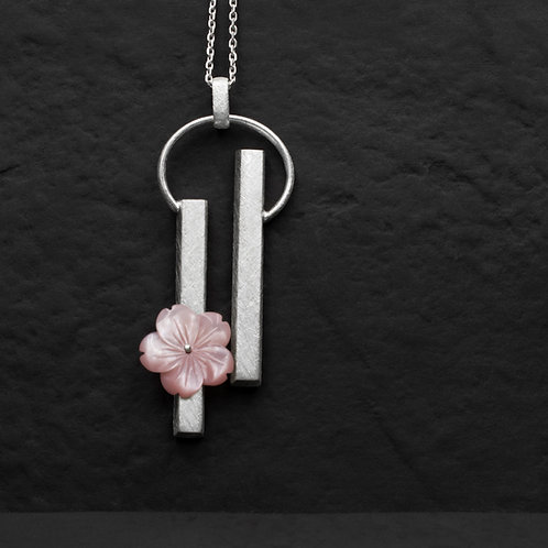 Gümüş Kolye - Çiçek Ray Kolye