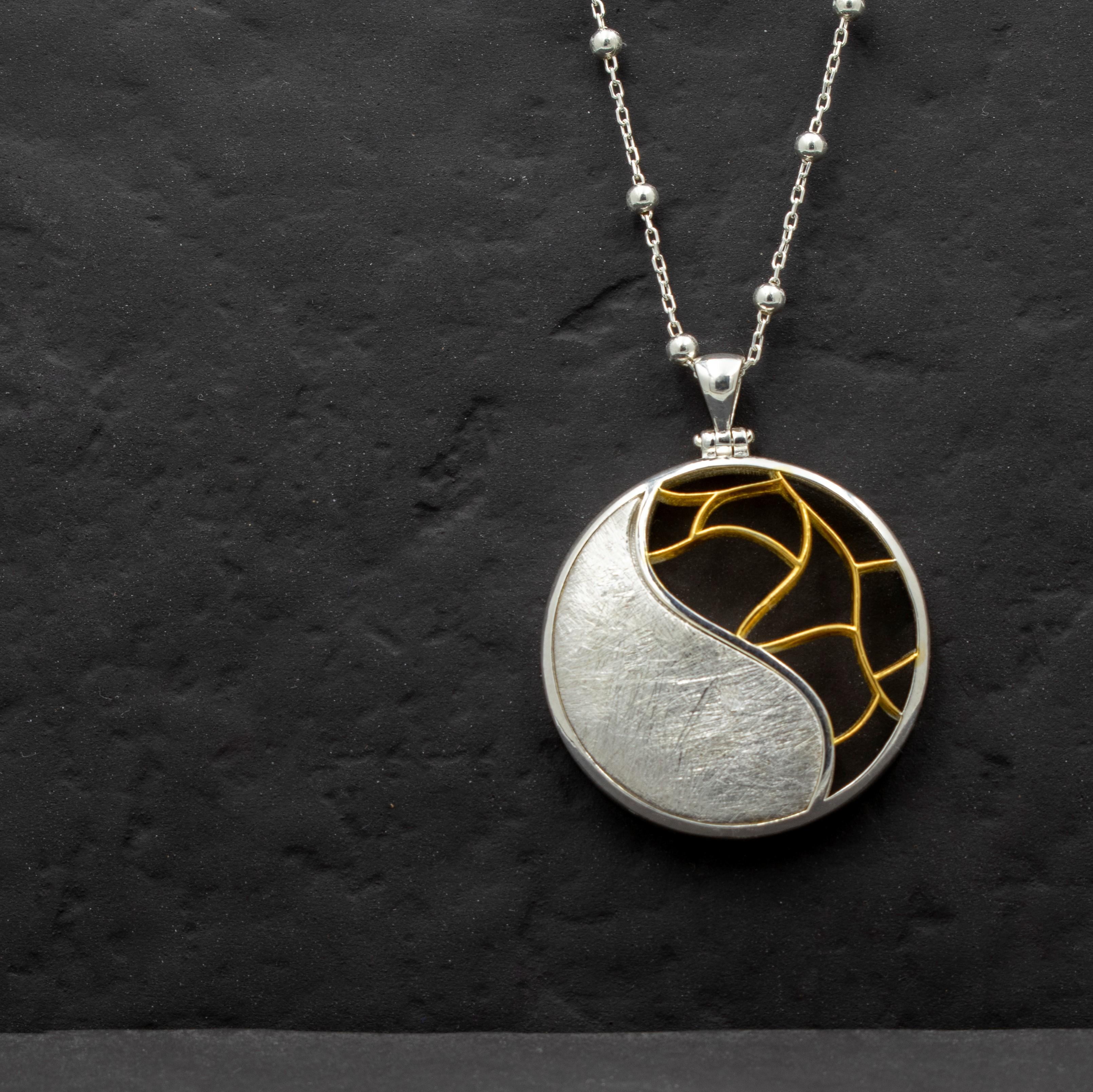 Yin Yang Gümüş kolye