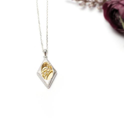 Gümüş Kolye - Baklava - Geometrik Kolye