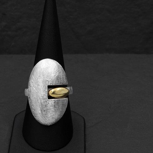 Gümüş Yüzük -  Geometrik - Oval Yüzük
