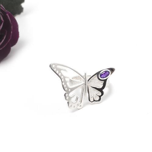 Gümüş Yüzük - Kelebek - Kelebek Yüzük
