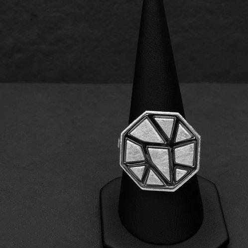 Gümüş Yüzük - Geometrik - Mozaik Petekli Yüzük