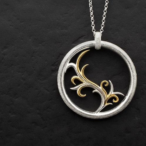 Gümüş Kolye - Floral Gümüş Kolye