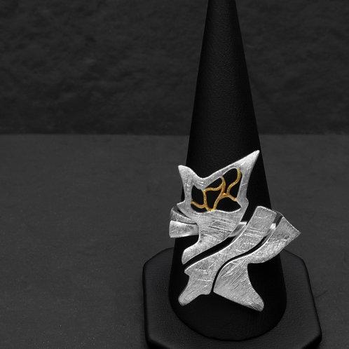 Gümüş Yüzük - Çınar Yaprak - Yaprak Kolye