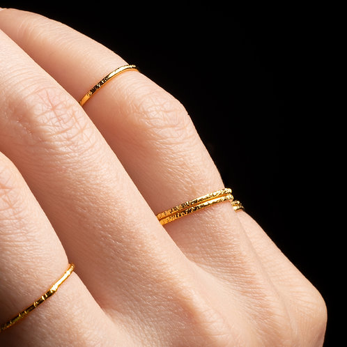 Altın Kaplamalı Bronz Dilek Yüzükleri