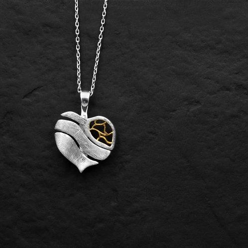 Gümüş Kolye - Erguvan Yaprak - Yaprak Kolye