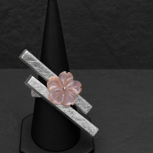 Gümüş Yüzük - Çiçekli Ray Yüzük