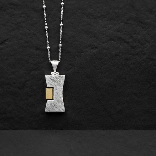 Dikdörtgen Gümüş kolye