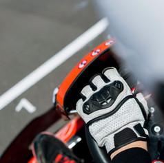Go-Kart Driver on the Start Line